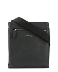 schwarze Leder Umhängetasche von Salvatore Ferragamo