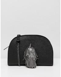 schwarze Leder Umhängetasche von Ted Baker