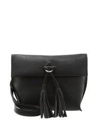 Schwarze Leder Umhängetasche von Tom Tailor