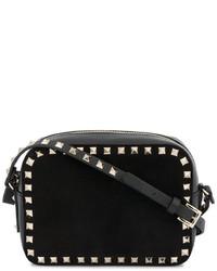 schwarze Leder Umhängetasche von Valentino Garavani