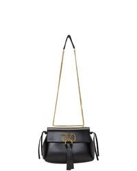 schwarze Leder Umhängetasche von Valentino