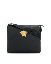 schwarze Leder Umhängetasche von Versace