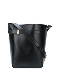 schwarze Leder Umhängetasche von Victoria Beckham