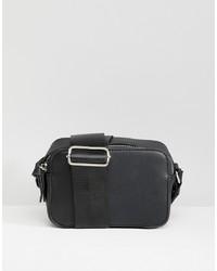 schwarze Leder Umhängetasche von Yoki Fashion