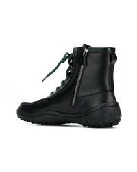 schwarze Lederarbeitsstiefel von Car Shoe