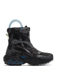 schwarze Lederarbeitsstiefel von Nike