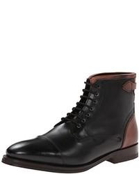 schwarze Lederformelle stiefel