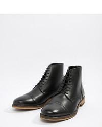 schwarze Lederformelle stiefel von ASOS DESIGN