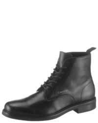 schwarze Lederformelle stiefel von Calvin Klein