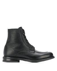 schwarze Lederformelle stiefel von Church's