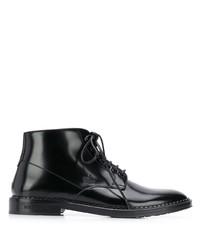 schwarze Lederformelle stiefel von Dolce & Gabbana