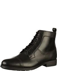 schwarze Lederformelle stiefel von Geox
