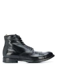 schwarze Lederformelle stiefel von Officine Creative