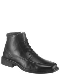 schwarze Lederformelle stiefel von PETROLIO