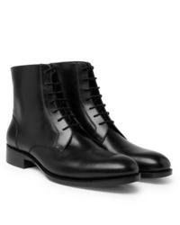 schwarze Lederformelle stiefel von Salle Privée