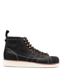 schwarze Lederfreizeitstiefel von adidas