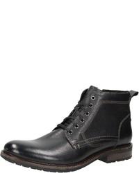 schwarze Lederfreizeitstiefel von Bama