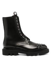 schwarze Lederfreizeitstiefel von Givenchy