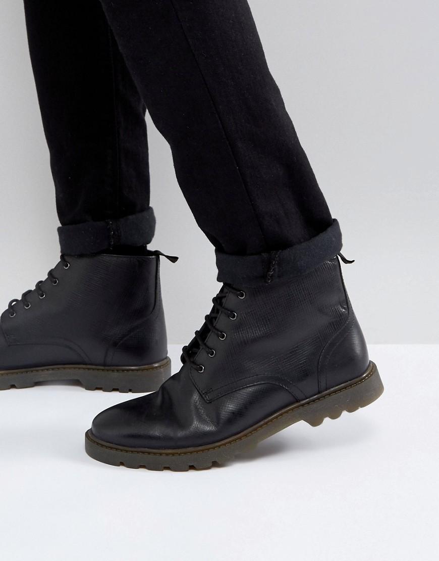 schwarze Lederfreizeitstiefel von Kg Kurt Geiger