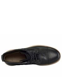 schwarze Lederfreizeitstiefel von UGG
