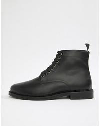 schwarze Lederfreizeitstiefel von WALK LONDON