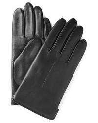 schwarze Lederhandschuhe von A.P.C.