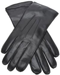 schwarze Lederhandschuhe von Ann Demeulemeester
