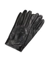 schwarze Lederhandschuhe von Benetton