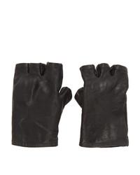 schwarze Lederhandschuhe von Boris Bidjan Saberi