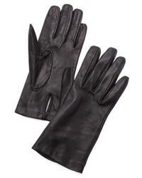 Schwarze Lederhandschuhe von Carolina Amato