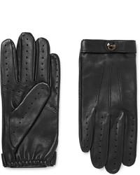 schwarze Lederhandschuhe von Dents
