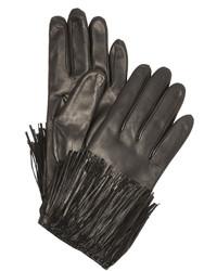Schwarze Lederhandschuhe von Diane von Furstenberg