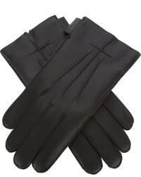 schwarze Lederhandschuhe von Givenchy