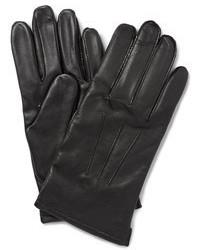 schwarze Lederhandschuhe von J.Crew