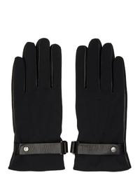 schwarze Lederhandschuhe von Mackage