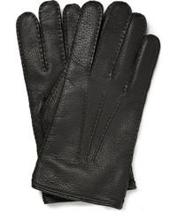 schwarze Lederhandschuhe von Mulberry