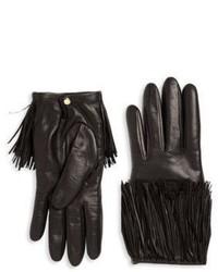 Schwarze Lederhandschuhe von Portolano