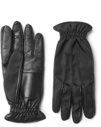schwarze Lederhandschuhe von Prada