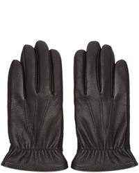 schwarze Lederhandschuhe von rag & bone