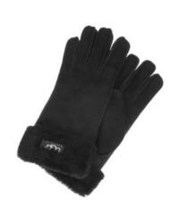 schwarze Lederhandschuhe von UGG