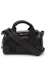schwarze Lederhandtasche von Alexander Wang