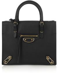 schwarze Lederhandtasche von Balenciaga