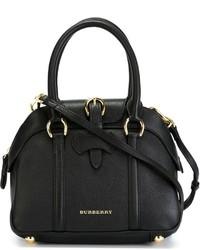 schwarze Lederhandtasche von Burberry