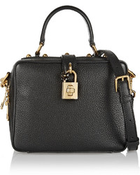 schwarze Lederhandtasche von Dolce & Gabbana