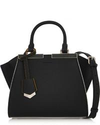 schwarze Lederhandtasche von Fendi