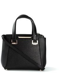 schwarze Lederhandtasche von Jimmy Choo