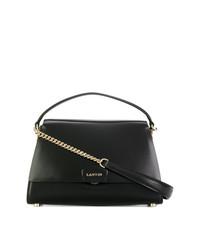 schwarze Lederhandtasche von Lanvin