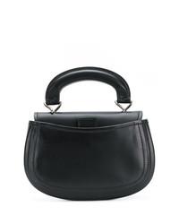 schwarze Lederhandtasche von Lemaire