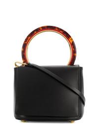 schwarze Lederhandtasche von Marni