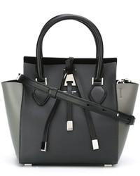 schwarze Lederhandtasche von Michael Kors